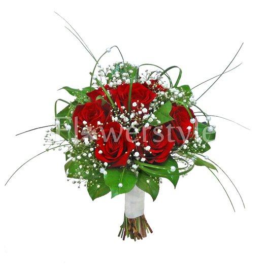 Букет цветов для невесты № 120 дополнительные изображения