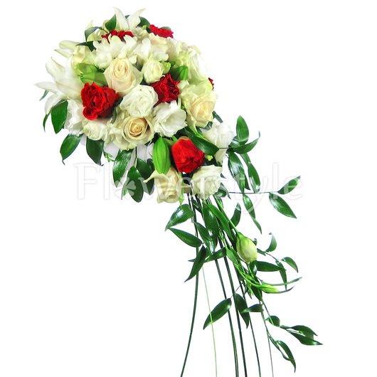 Букет цветов для невесты № 108 дополнительные изображения