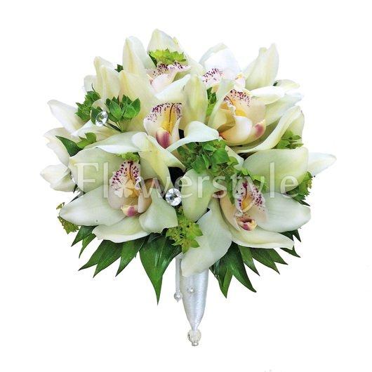 Свадебный букет невесты из орхидей №40 дополнительные изображения