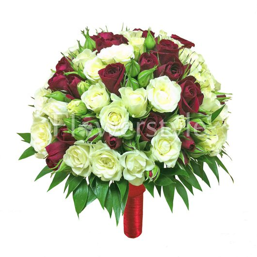Букет невесты из кустовых роз №22 дополнительные изображения