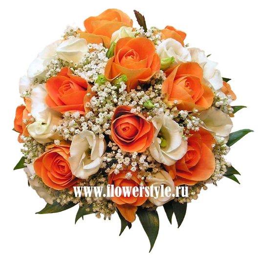 Букет цветов для невесты № 110 дополнительные изображения