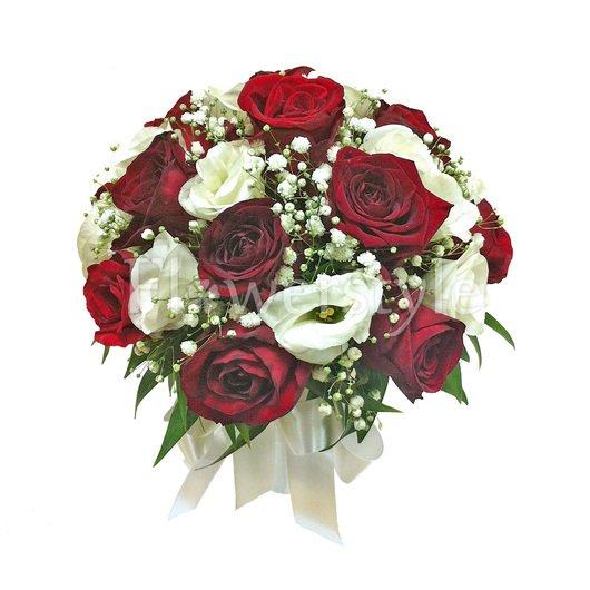 Букет цветов для невест из роз № 66 дополнительные изображения
