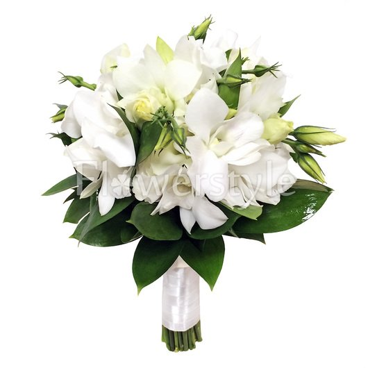 Свадебный букет с орхидеями №130 дополнительные изображения