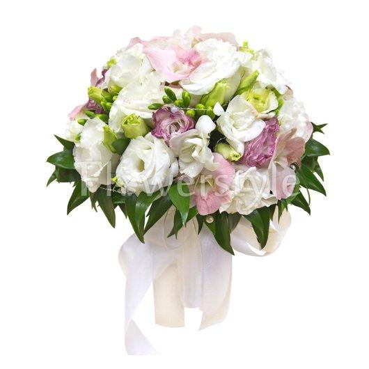 Свадебный букет из орхидей № 109 дополнительные изображения