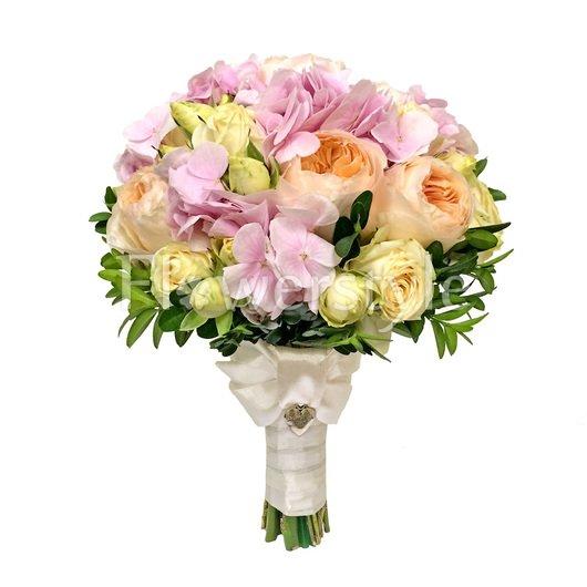 Букет для невест с пионовидными розами №128 дополнительные изображения