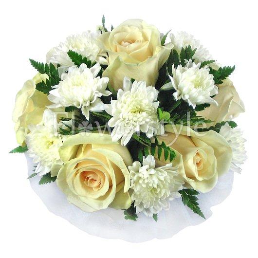 Букет цветов для невесты № 50 дополнительные изображения