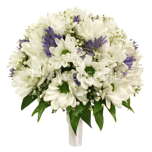 Букет невесты из кустовой хризантемы №141 дополнительные изображения