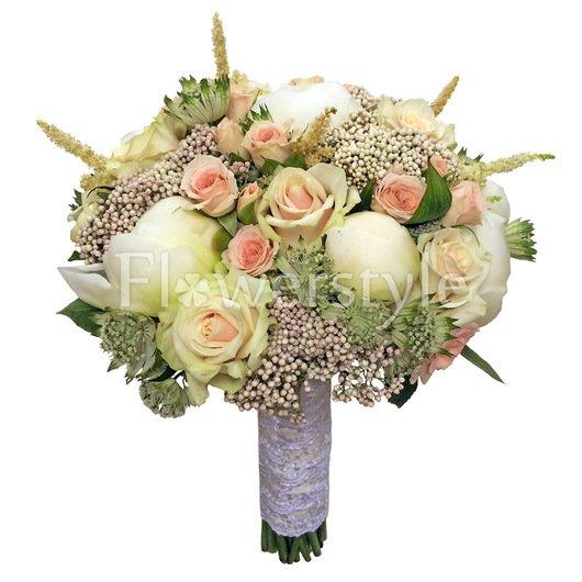 Букет невесты из пионов и роз №143 дополнительные изображения
