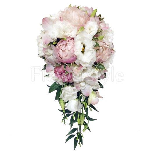 Букет невесты с пионами свадебный №155 дополнительные изображения