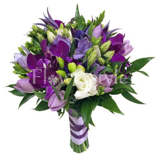 Букет невесты из фрезий и орхидей №157 дополнительные изображения