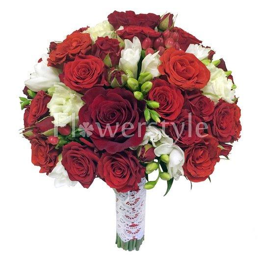 Букет невесты с розами №158 дополнительные изображения